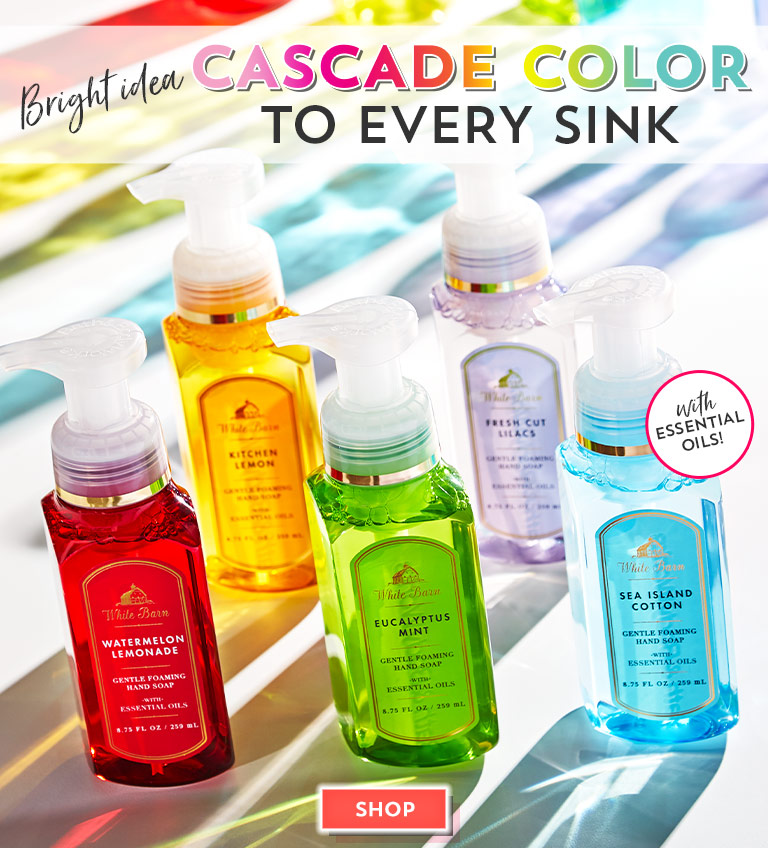 Bright idea: Cascade color to every sink. Shop now.