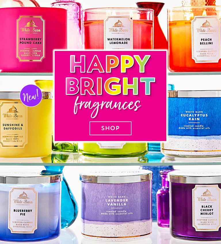 Happy bright fragrances. Shop now.
