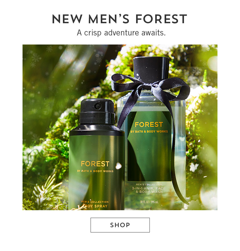 New Men's Forest. A crisp adventure awaits. Shop.