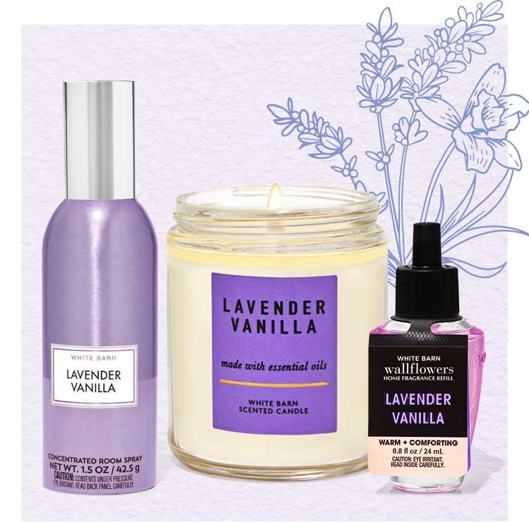 Lavender Vanilla home fragrance collection