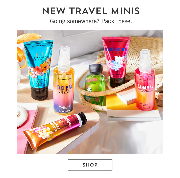 New travel minis. Going somewhere? Pack these. Shop.