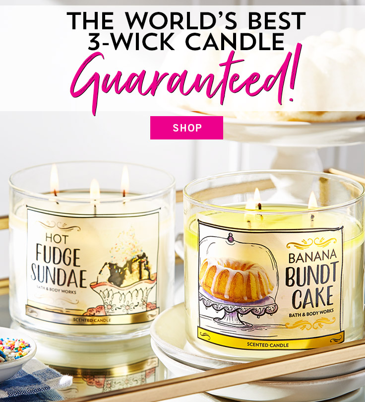 The world's best 3-wick candle guaranteed! Shop.