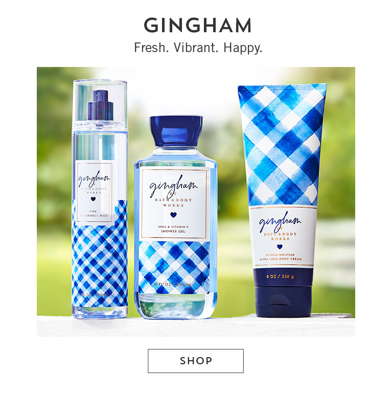 Gingham. Fresh. Vibrant. Happy. Shop now.
