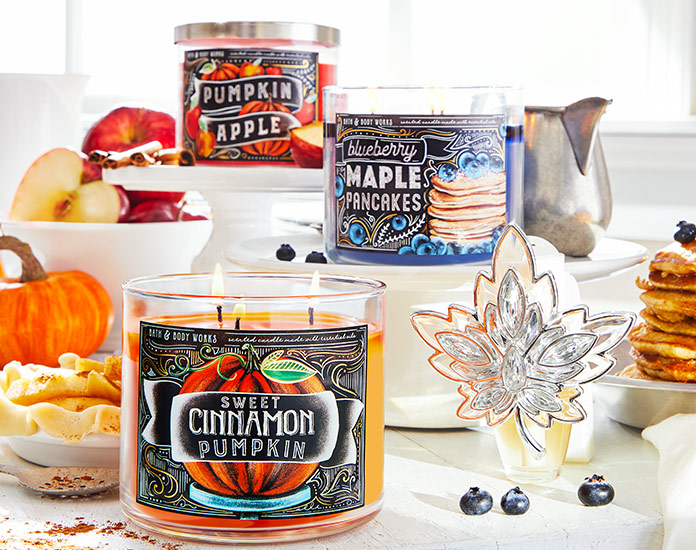Time to shop for Bath and Body Works Pumpkin Candle Collection