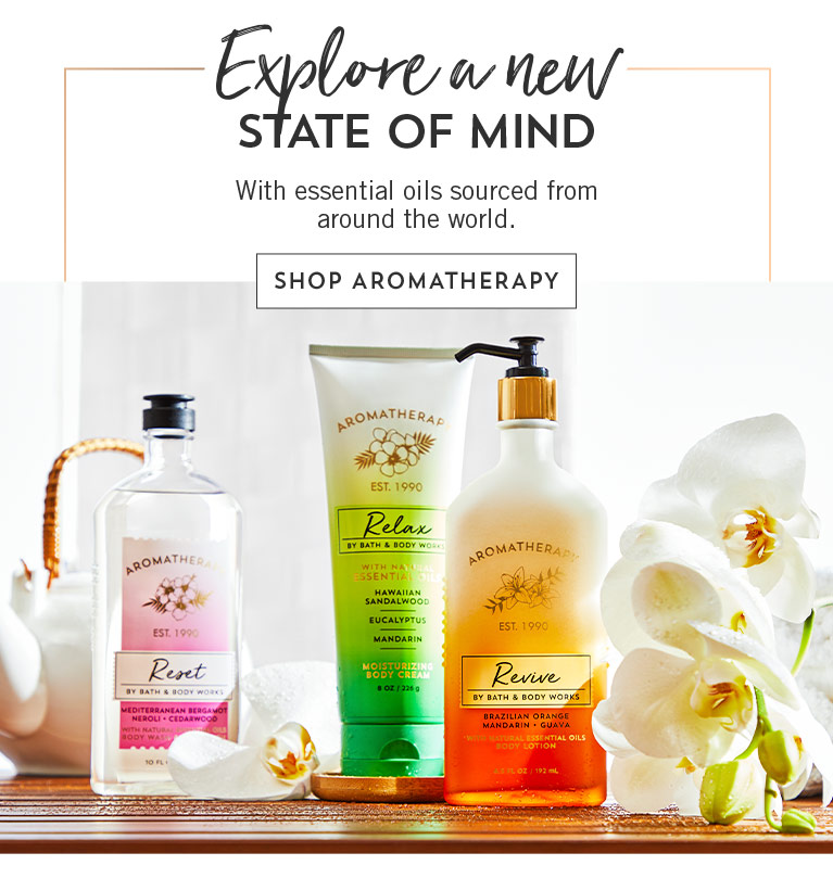 Explore a new state of mind with essential oils sourced from around the world. Shop aromatherapy.