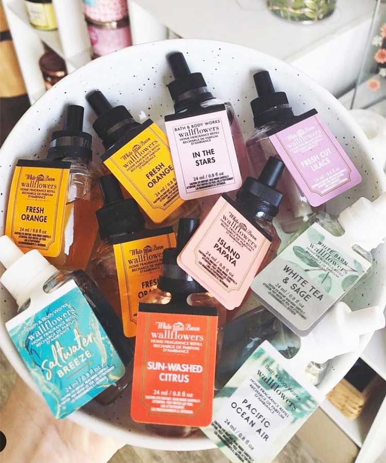 Wallflower refills at Bath and Body Works