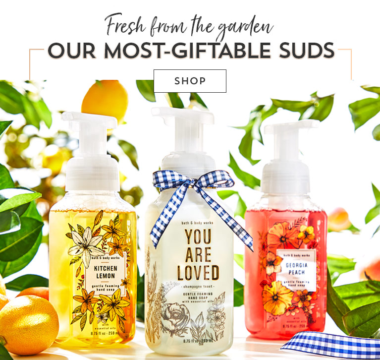 Fresh from the garden. Our most giftable suds. Shop.