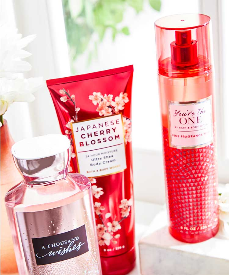 Body care at Bath and Body Works