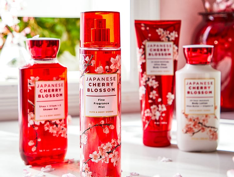 Japanese Cherry Blossom Skin Care Products Bath & Body Works