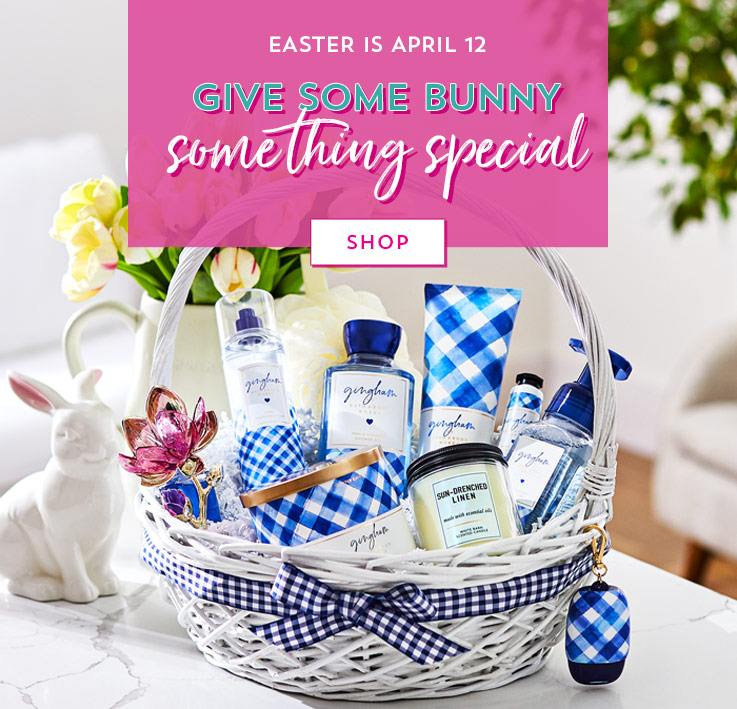 Easter is April 12. Give some bunny something special. Shop.