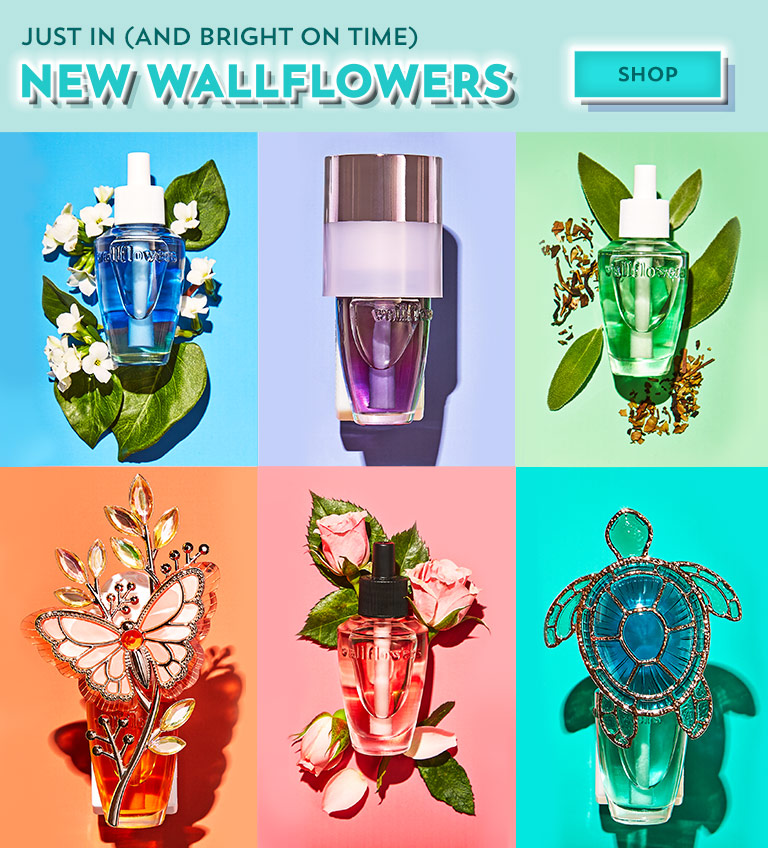 Just in (and bright on time): new Wallflowers. Featuring Most Loved, Fresh & Clean and Seasonal Favorites. Shop now.