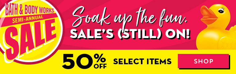Soak up the fun. Sale's (still) on! 50% off select items. Shop now.