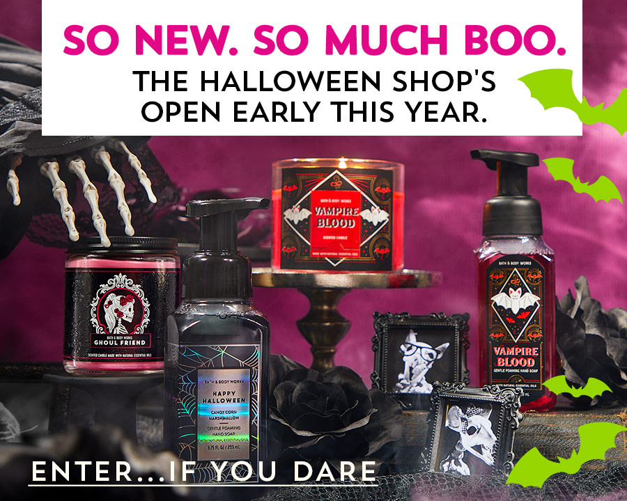 So new. So much boo. The Halloween Shop's open early this year. Enter…if you dare.