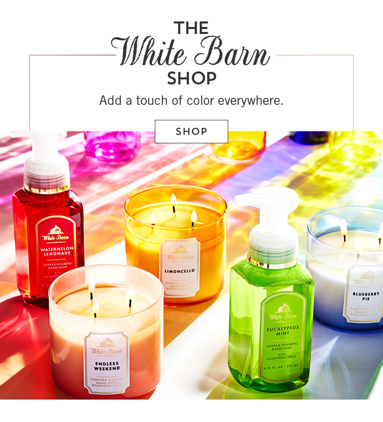 The White Barn Shop. Add a touch of color everywhwere. Shop.