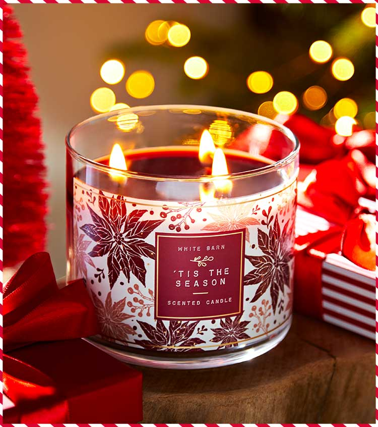 Christmas-scented candle