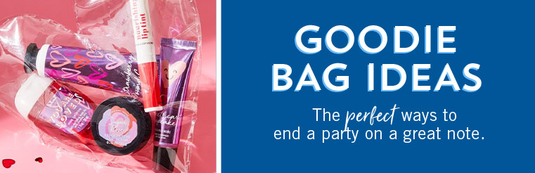 Goodie Bag Ideas. The perfect items to end a party on a great note.