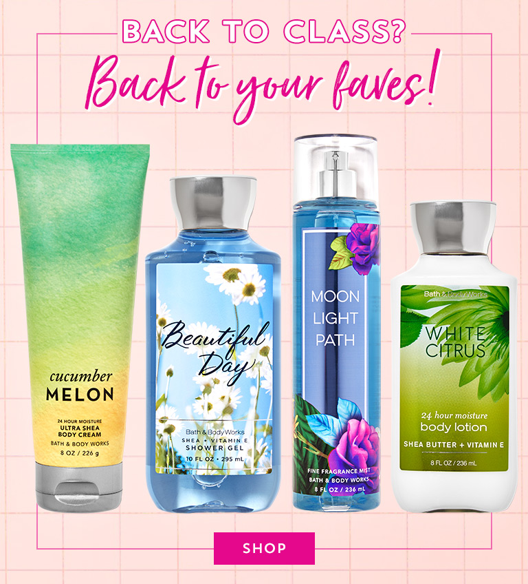 Back to school? Back to your faves! Online only: $6.50 Retired Fragrances. Shop.