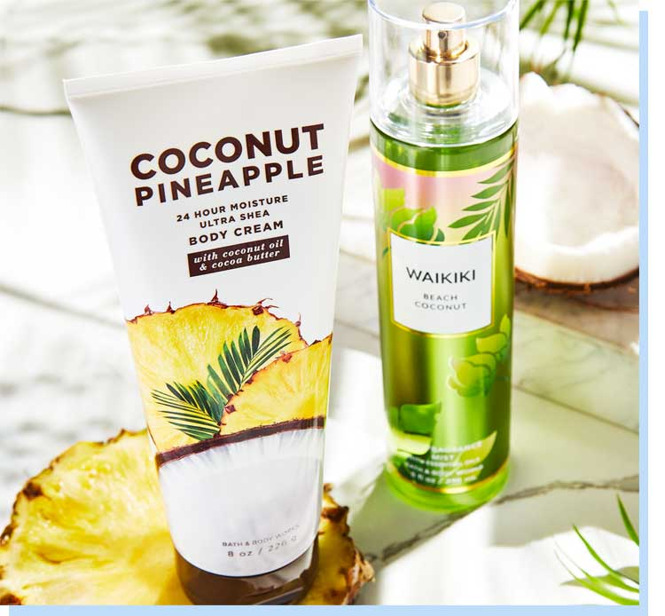 Tropical body care gift set for mom