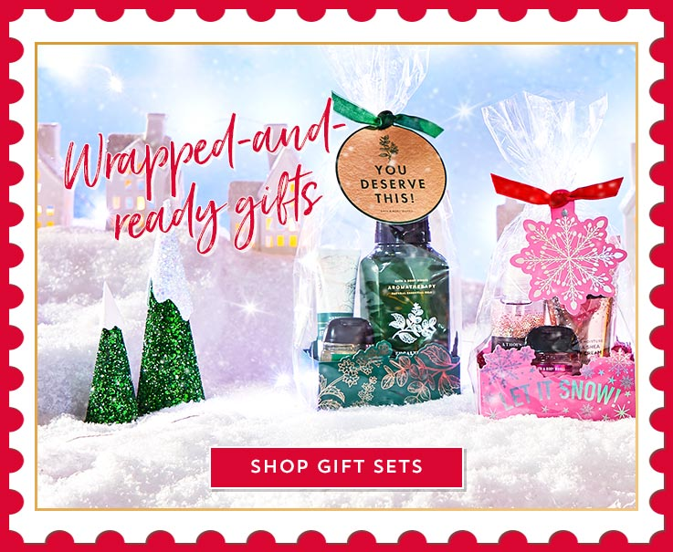 Wrapped-and-ready gifts. Shop Gift Sets.