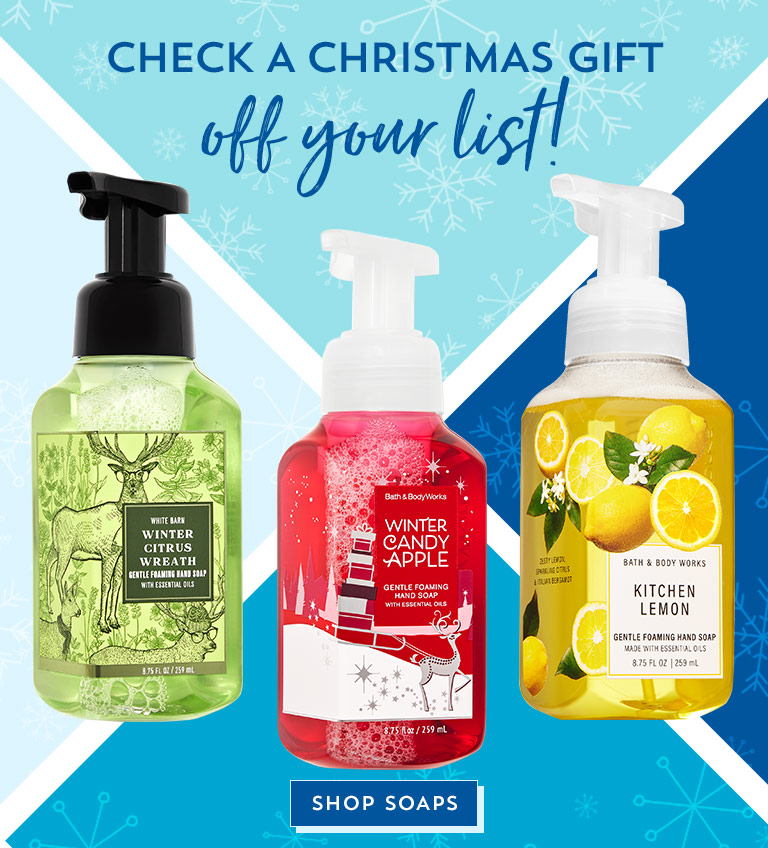 Check a Christmas gift off your list! Shop soaps.