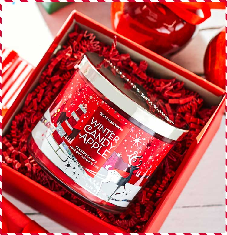 Winter Candy Apple candle Bath & Body Works