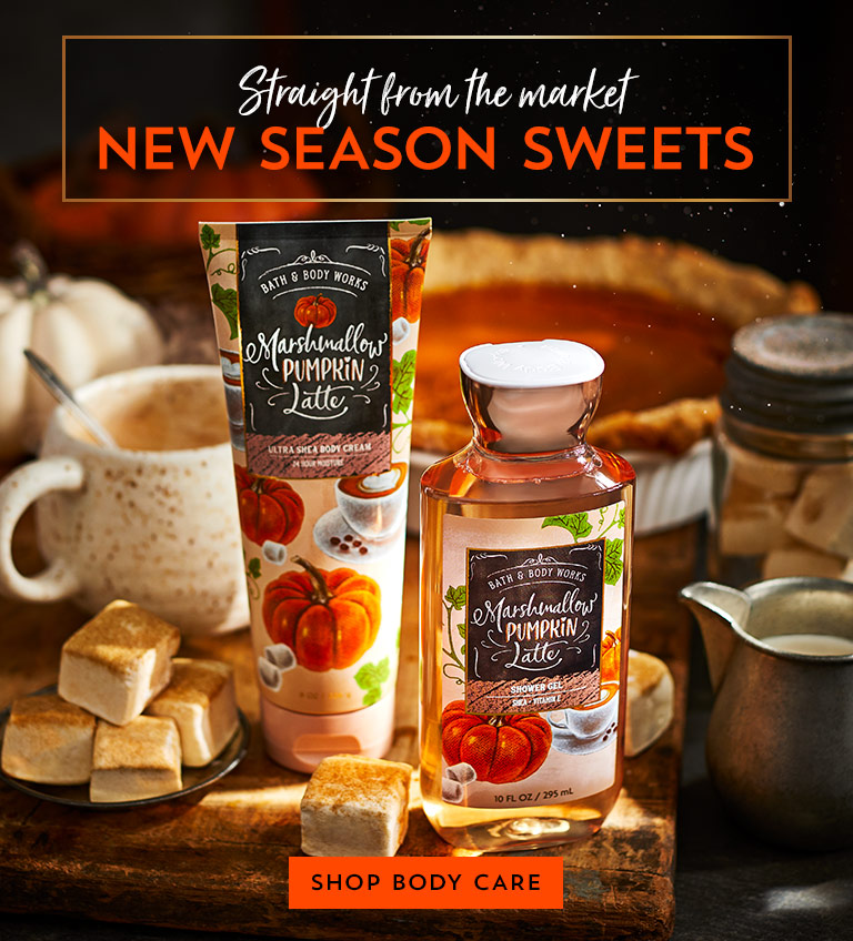 Straight from the market: new season sweets. Shop body care.